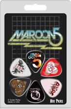 Maroon 5 Officially Licensed Guitar Picks 6 Pack Collectible Perri's #6MARRCS01