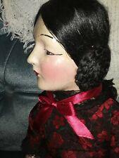 """Gorgeous Art Deco Anita 30 """" Turn Head Boudoir Doll silk braided coils"""