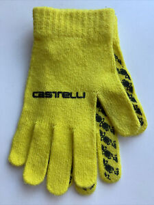 Castelli Unico Full Fingered Cycling Touring Road Bike Gloves Yellow One Size