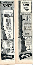 1952 Print Ad of Mossberg 151K 15 Shot & 144 7 Shot .22 Rifle 2 DIFFERNT ADS