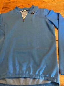 Giordana Blue Cycling Jersey Long Sleeve 1/4 Zip - Size 7 (L)