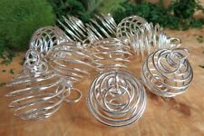 30PCS//Set Spiral Bead Cages Pendants Silver Plated Craft Jewelry Making DIYDSUK