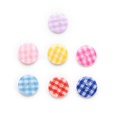 50pcs Mixed 2 Hole Resin Buttons Decor Sewing Scrapbooking 13mm