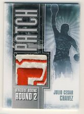 Julio Cesar Chavez 2011 Ringside Boxing Round 2 Patch Silver Card /9 #P-21 (B)