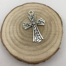 2pcs CROSS Charm Tibetan Silver Tone Pendant  Charms Pendants 38x25mm