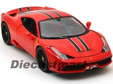 BBURAGO SIGNATURE 16903 1:18 FERRARI 458 SPECIALE RED DIECAST MODEL CAR ELITE