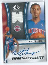 2009-10 SP Game Used Walter Sharpe Signature Fabrics JERSEY RELIC AUTO PISTONS