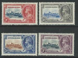 LEEWARD ISLANDS - SG88-91 - 1935 SILVER JUBILEE SET OF 4, MM - CV £35+