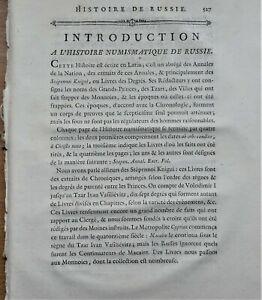 HISTORIA NUMISMATICA IMPERII RUSSICI Histoire numismatique de Russie 1785 In-4°