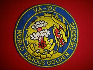US Navy Patch Strike Fighter Squadron VA-192 WORLD FAMOUS GOLDEN DRAGONS