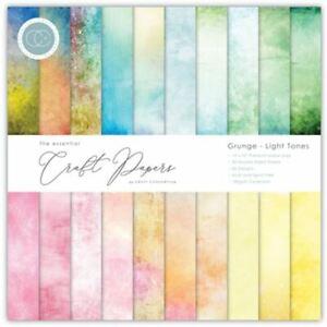 """Craft Consortium   The Essential Craft Papers   Grunge - Light Tones    6"""" x 6"""""""