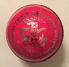 Pink Test Cricket Ball Leather Entirely Hand Stitched, 5.5oz For 50 Overs.