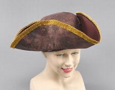 # Tricornio Sombrero marrón envejecido Piratas Capitán Disfraz
