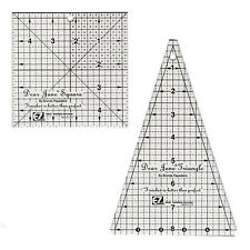 "DEAR JANE TOOLS 8"" Triangle & 4.5"" Square 2 EZ Quilt Rulers NEW Dear Hannah"