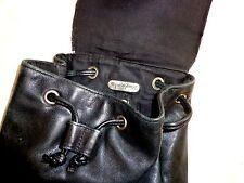 """Woman's Black Leather PURSE - Jacqueline Ferrar - 8"""" X 9"""" X 5"""" -  Shoulder BAG"""