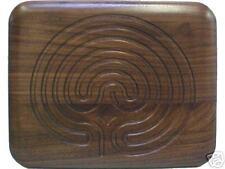 "Cretan Finger Labyrinth - 8"" Rectangle Walnut"