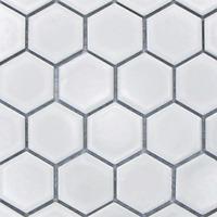 White Hexagon Matt Mosaic Wall & Floor Tiles 4.8 x 4.8