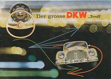 DKW 3=6 Prospekt 1959 7/59 brochure Autoprospekt Broschüre prospectus broschyr