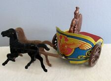 CHARIOT $ WARRIOR # 3  U S METAL TOY MFG CO NEW YORK TIN LITHOGRAPH