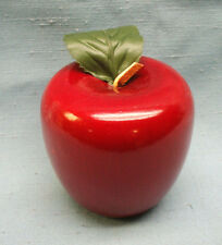 solid wood red teacher apple gift