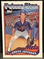 1989 Topps Gregg Jefferies baseball card New York Mets Mint #233 Greg Rookie RC