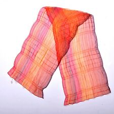 Pierre Cardin Made in Italy Vintage 80s Scarf Orange Multi Bright shawl One size