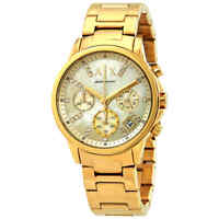 Armani Exchange Smart Chronograph Gold Dial Ladies Watch AX4327