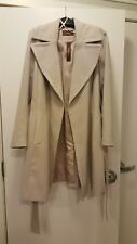 Women's Belted Wrap Coat - Size: 12 (US)/16 (UK) - Color: Stone - VEGAN