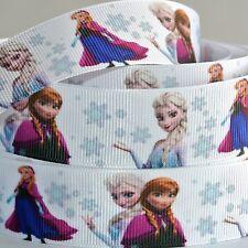 "Disney Frozen Ribbon 1"" Wide NEW UK SELLER FREE P&P"