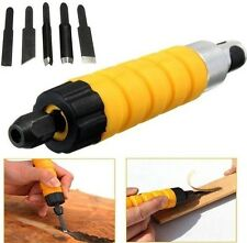 Woodworking Electric Carving Pen Machine Chisel Tool 5 Carving Blades New