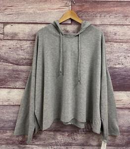 Women's Gilligan & O'malley Sleepwear Hoodie Lounge sweater Gray Small L, XL 2XL