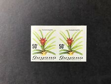 Guyana Flowers/Orchids 50c pair imperf mint
