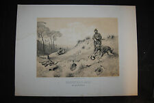 Krüger - Jagdbilder - 6 getönte Lithographien - 1832-1876