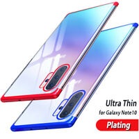 For Samsung Galaxy Note 10 Plus 9 8 Ultra-thin Plating Clear Soft TPU Case Cover