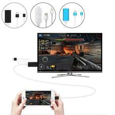 New 2m Lighting To HDMI HDTV AV Adapter Dock USB Charger Cable For iPhone & iPad