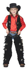 Childrens Suede Leather Vest and Chaps Set Silver Conchos