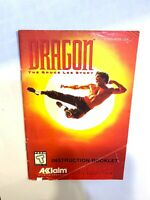 Dragon The Bruce Lee Story SNES Super Nintendo Instruction Manual Only