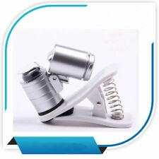 Mini 60X LED Light Jeweler Loupe Pocket Magnifying Magnifier Glass Microscope
