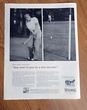 1956 Spalding Golf Clubs Ad Why Keep Wishing Gee What I's Give for a Shot like