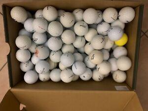 100 Golfbälle  Marken Mix  Markenmix AA Qualität  gebraucht