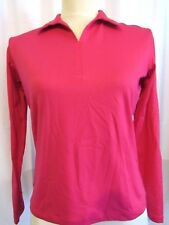 NIKE GOLF WOMEN'S PINK LONG SLEEVE DRI-FIT ATHLETIC TOP, SIZE XS