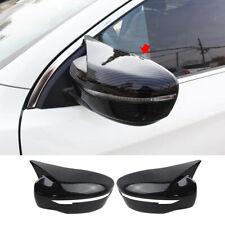 For Nissan Rogue 2014-2020 Carbon Fiber look Rear view Mirror Cover Trim 2pcs