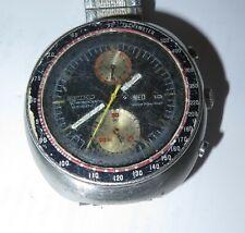 RARE Vintage Seiko 6138 0010 Steel Mens Automatic Chronograph Watch FIXER