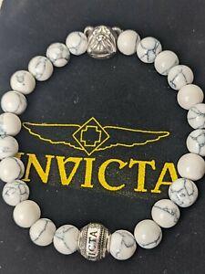 Invicta Elements Men's Howlite Beaded Bracelet 35910