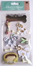 Shih Tzu Dog Puppy Bed Chew Toys Bones Collar  Jolee's 3D Sticker