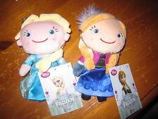 NEW Disney Store Frozen Elsa And Anna Plush Dolls Coin Purse Set