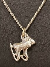 """New listing 16"""" Silvertone Pendant Necklace Pair of Ice Skates"""
