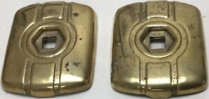 Vintage Packard? Brass Jack Plates Pair 2