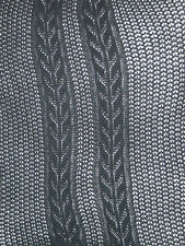"Black Ribbed Cable Knit Mary Quant Tights ""tramlines"" new 8-10 vintage pantyhose"