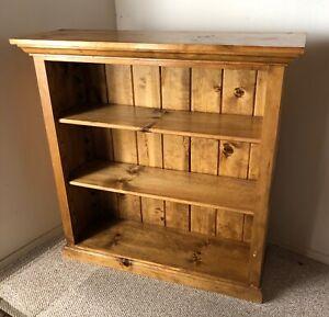"Solid Pine Custom Made Bookcase w/ 3 Adjustable Shelves 42""L, 14""d, 42"" H"